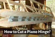 How to cut a piano hinge