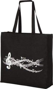Canvas Music Tote Bag