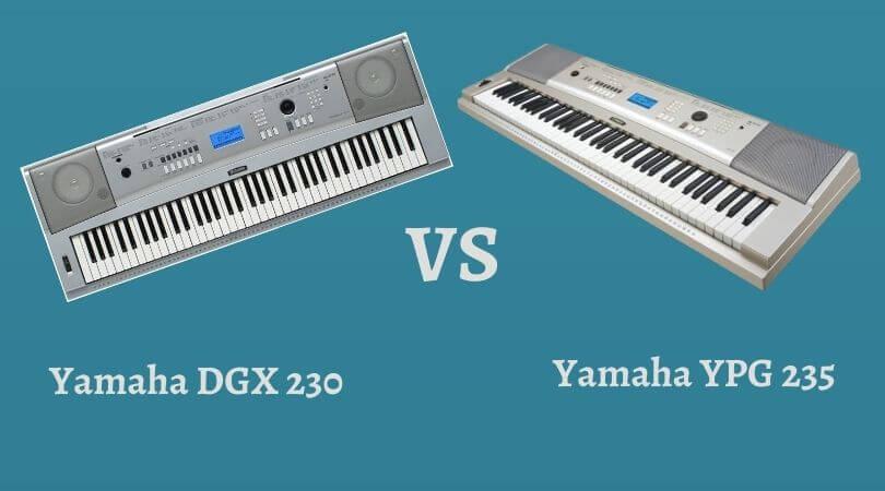 Yamaha DGX 230 vs YPG 235